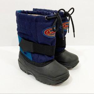 KAMIK Winter Snow Boots Blue & Black Toddler 9